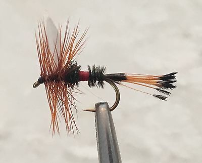 ROYAL COACHMAN MIXED DOZEN - DRY FLY FISHING FLIES - 6 Flies x #16 and 6 x #18
