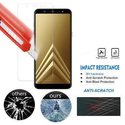 For Samsung Galaxy J8 A6 A8 2018 Full Tempered Glass LCD Screen Protector UK SEk