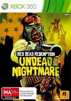 RED DEAD REDEMPTION Undead Nightmare Microsoft Xbox 360 Game + Booklet PAL