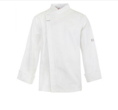 Chefs Tunic With Concealed Front - Long Sleeve - Size Medium