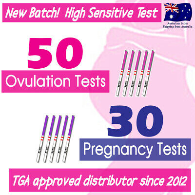 50x Ovulation Tests +30x Pregnancy Test Strips+10x Urine Cups Fertility OPK Kits