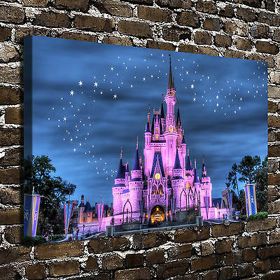 """12""""x18"""" Disney Castle Paintings HD Print on Canvas Home Decor Wall Art Pictures"""