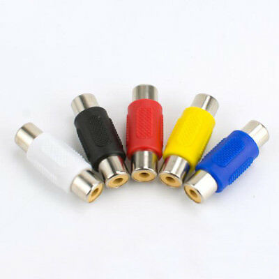 10pcs RCA Female to RCA Female Connector Adapter (Each Color 2pcs) s267