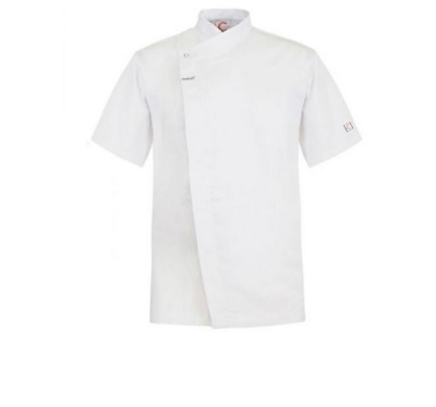 Chefs Tunic With Concealed Front - Short Sleeve - Size Medium