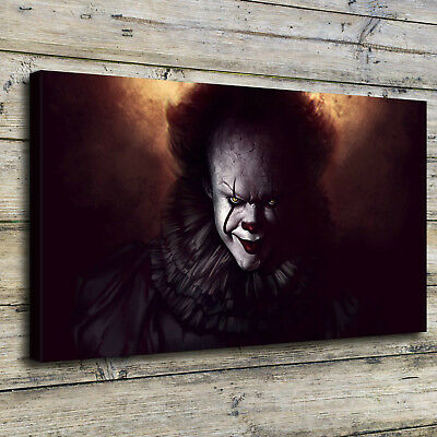 """12""""x20"""" Pennywise The Clown Fanart Painting HD Print on Canvas Home Decor Wall"""