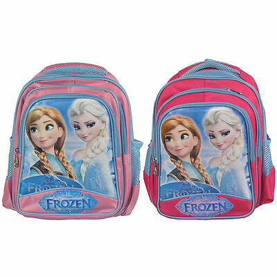 "Disney Frozen 12"" Large Backpack and Lunch Anna Elsa School Bag Children Kids#US"