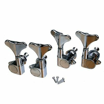 Sealed Bass Guitar Tuners 2R2L for Ibanez Tuning Pegs Machine Heads Peg Set of 4