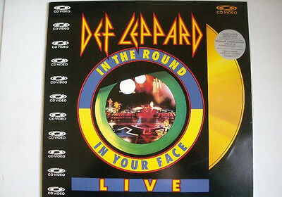 Laserdisc- Def Leppard -In The Round In Your Face- Live Edicion Japonesa