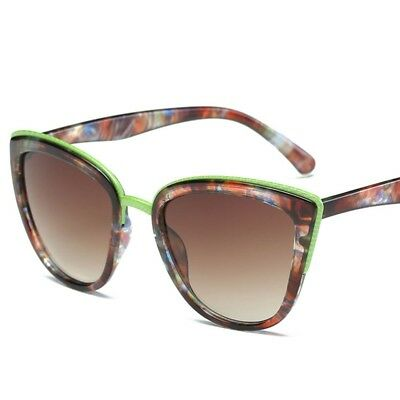 15f7bd0050b Floral Abstract Printed Frame Sunglasses Cat Eye Retro Vintage Fashion  Shades