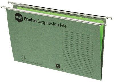 Marbig Suspension File Foolscap Steel Runners - 10 Pack