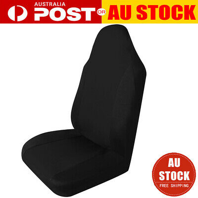 Universal Auto Full Car Seat Covers Anti Slip Front Seat Covers Protector Black