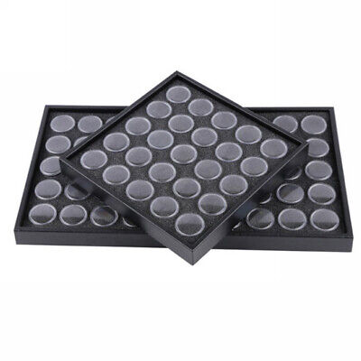 25/50  Nail Art Empty Glitter Jewelry Display Box Cases Storage Container Plate