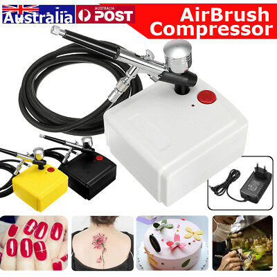 AU 110W Airbrush Compressor for Cake Craft Decorating Manicure Tattoo Spraying