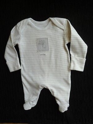 Baby clothes UNISEX BOY GIRL premature/tiny<6lbs/2.7kg beige/white babygrow