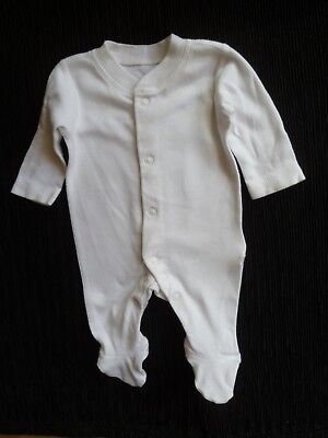 Baby clothes UNISEX BOY GIRL premature/tiny<6lbs/2.7kg soft white babygrow