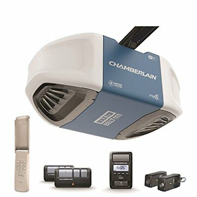 Chamberlain B970 Smartphone-Controlled Ultra-Quiet and Strong Belt Drive Garage