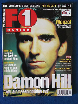 F1 Racing Magazine - October 1998 - Damon Hill Cover - Formula One