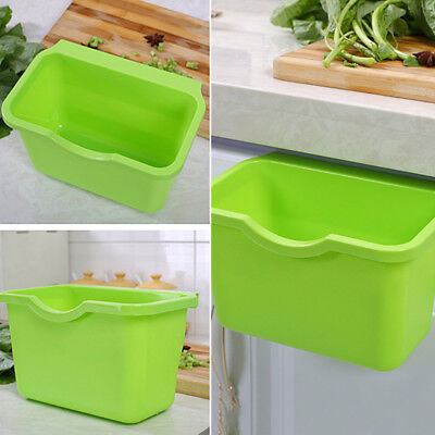 BL_ Kitchen Cabinet Door Basket Hanging Trash Can Waste Bin Garbage Bowl Box Goo
