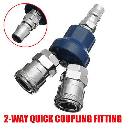 0.90inch Air Compressor Manifold 2 Way Quick Connect Multi Hose Coupler Fitting