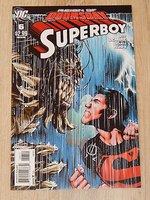 SUPERBOY (DC 2011) #6 SIGNIERT Marco Rudy, Jeff Lemire REIGN OF DOOMSDAY