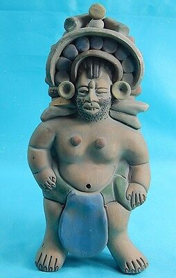 Antique Old Mexico Mexican Pre-Columbian Red Clay Pottery Figurine #3
