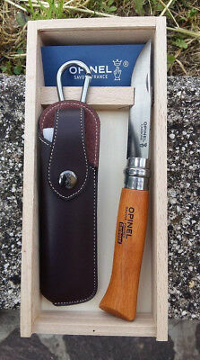 Coltello Opinel OP00815 No 8 Beechwood Carbon Steel knife messer couteau navaja