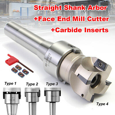 R8/MT2/MT3 Straight Shank Arbor 400R 50MM Face End Mill Cutter & APMT1604 Insert