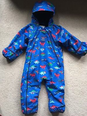2db91aa1f JOJO MAMAN BEBE Dinosaur All-in-One Fleece Lined Snowsuit Puddlesuit ...