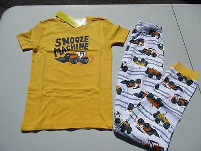 Gymboree Snooze Machine Tractor Size 12 short sleeve Pants gymmies pajamas NEW
