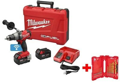Milwaukee Hammer Drill Driver Kit 1/2 in. 18-Volt Lithium-Ion Cordless Brushless