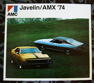 AMERICAN MOTORS AMC JAVELIN / AMX 1974 brochure - French - Canada ST1002001117