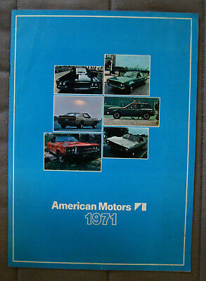AMERICAN MOTORS 1971 dealer brochure - French - Canadian Market