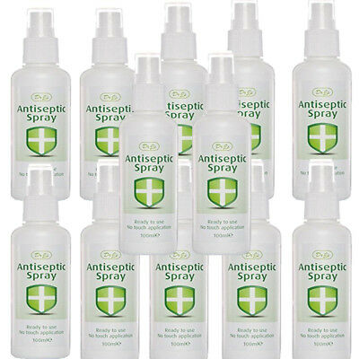 12 X Dr J's Johnson Antiseptic Spray Ready To Use No Touch Application 100ml