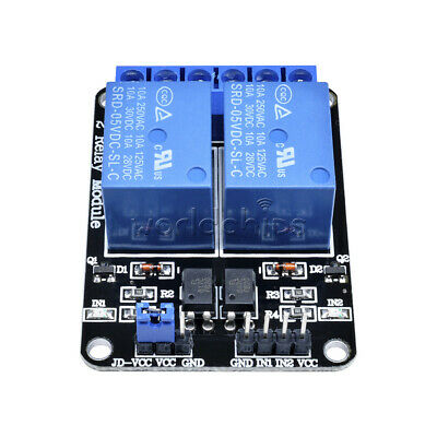 5PCS 5V Two 2 Channel Relay Module With optocoupler for Arduino PIC AVR DSP ARM