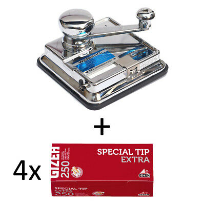 OCB MikrOmatic DUO (Stopfer) + 1.000 (4x250) GIZEH Special Tip EXTRA (Hülsen)