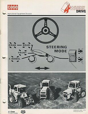 Case 4 wheel drive tractor 4490 4690 4890 sales booklet