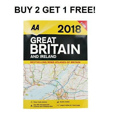 AA Great Britain and Ireland Atlas 2018 (Road Map) BUY 2 GET 1 FREE
