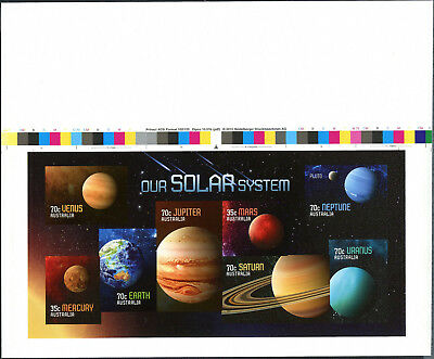 Australia 2015 Our Solar System Imperforate Minisheet MNH with Autotron strip