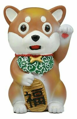 "Maneki Shiba Inu Figurine 4""Tall Small Collectible Dog Puppy Japan Pet"