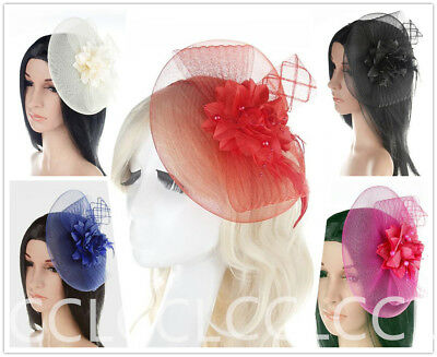 Ladies Flower Feather Fascinator Hair Band Royal Ascot Race Wedding Hen Party