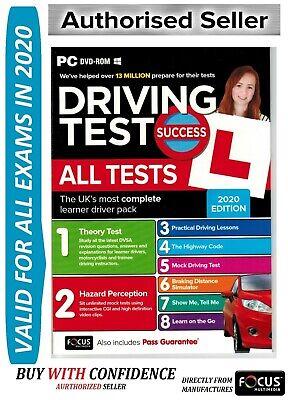 2019 Driving Theory Test Success All Tests and Hazard Perception PC DVD NEW*ATpc