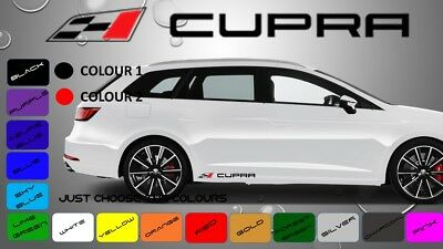SEAT CUPRA - 2 x Side Skirt Decals Stickers Adhesive   300 x 29 mm