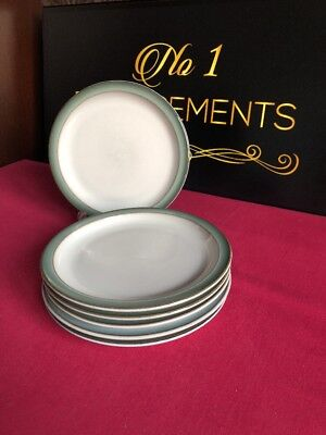 "6 x Denby Regency Green Side / Tea Plates 6.75"" 4 Sets Available"