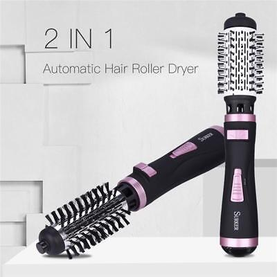 2 in1 Hair Dryer Rotating Brush Automatic Roller Electric Curler Styling Tools