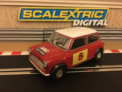Scalextric Digital Mini Cooper S RAC Rally 1966 GHill MBoyd No5