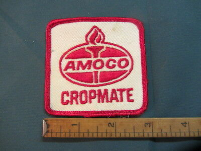 Vintage Amoco Cropmate Embroidered Sew On Patch Gas Oil Fertilizer