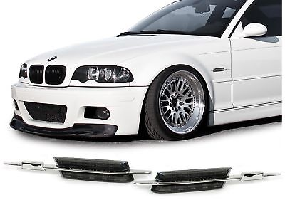 SMOKED LED SIDE INDICATORS REPEATERS BMW E46 3 SERIES SALOON COUPE ESTATE CABRIO