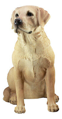 Pacific Giftware Golden Retriever Puppy Statue Realistic Glass Eyes