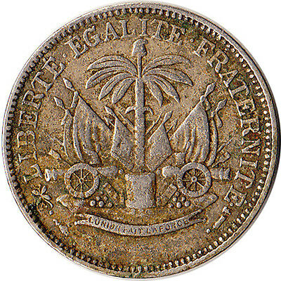 1904 Haiti 5 Centimes Coin Waterbury Mint Connecticut KM#52 One Year Type