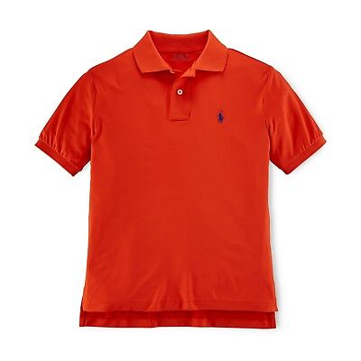 Ralph Lauren POLO Little Boys Kids Solid Active Polo Orange 2/4/6/7 New with Tag